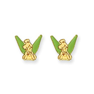 14K Disney Tinkerbell Earrings