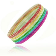 Multicolor Bangles Set - 18 pieces