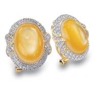 Mother Pearl Diamond Earring