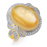 Mother Pearl Diamond Ring