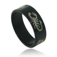 Stainless Steel  Black Scorpio Band