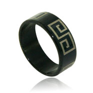 Stainless Steel Black Square  Band