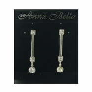 Anna Bella Fashion Post Drop CZ Earrings
