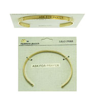 "Fashion Leader ""ASK FOR PRAYER"" Bangle Brecelet"