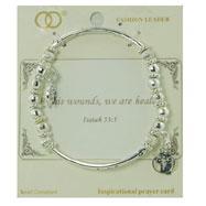 Silver-tone Stretch Bracelet