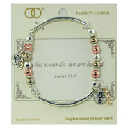 Tri-color Stretch Bracelet Psalm 46:10