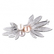 Multi-Pearl With Diamond Brooch