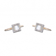 Mother Of Pearl  With Diamond Studs