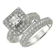White Gold Diamond Bridal Set Ring