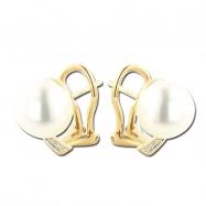 Pearl With Diamond Earring