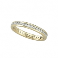 Eternity Diamond Band - yellow gold