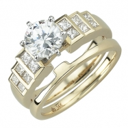 Yellow Gold Diamond Bridal Set Ring