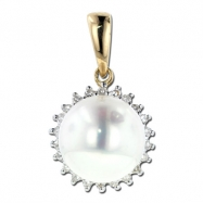 Pearl Diamond Pendant