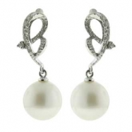 Fresh Water Pearl Diamond Earrings