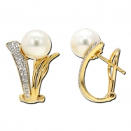 Fresh Water Pearl Diamond Earring