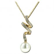 Fresh Water Pearl Diamond Necklace