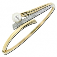 Fresh Water Pearl Diamond Bangle