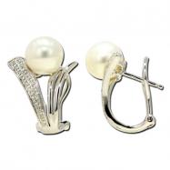 Fresh Water Pearl Diamond Earring