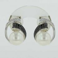 Freshwater Pearl Diamond Earrings