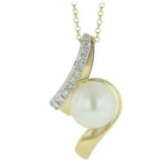 Freshwater Pearl Diamond Necklace