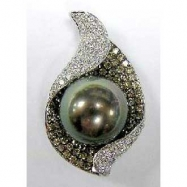 South Sea Black Pearl Diamond Pendant