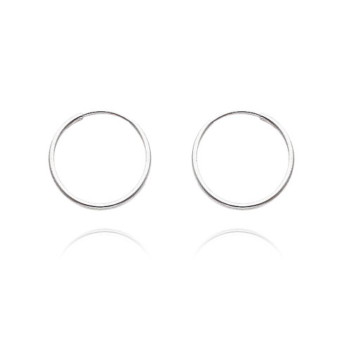 14K White Gold 1x12mm Endless Hoops. Price: $37.77
