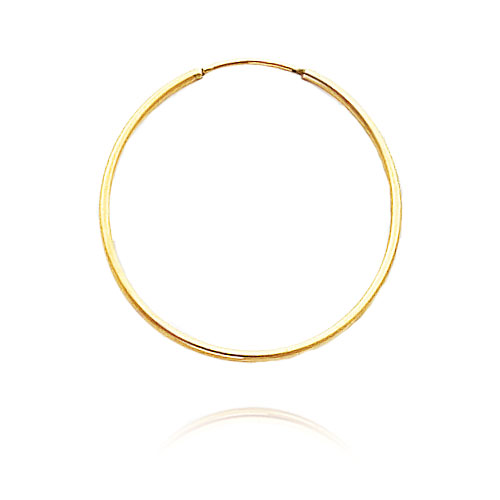 14K Yellow Gold 1x30mm Endless Hoops. Price: $71.52