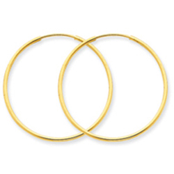 14K Gold 1X40mm Endless Hoop Earring. Price: $87.87