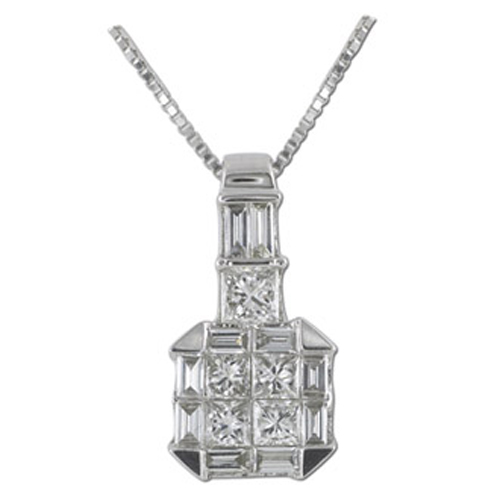 White Gold Diamond Necklace. Price: $1050.00
