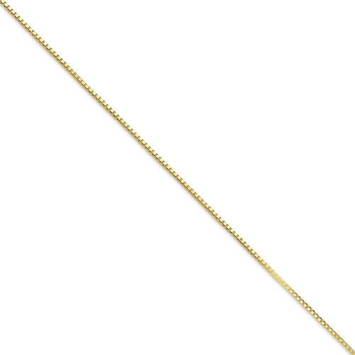 10k 1.25mm Box Chain. Price: $249.02