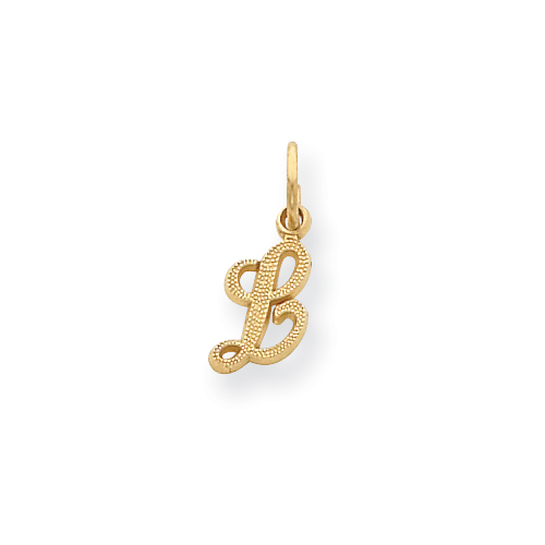 14ky Casted Initial L Charm. Price: $41.42