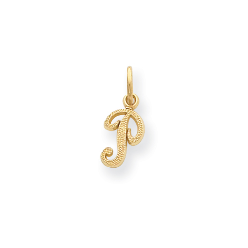 14ky Casted Initial P Charm. Price: $38.16