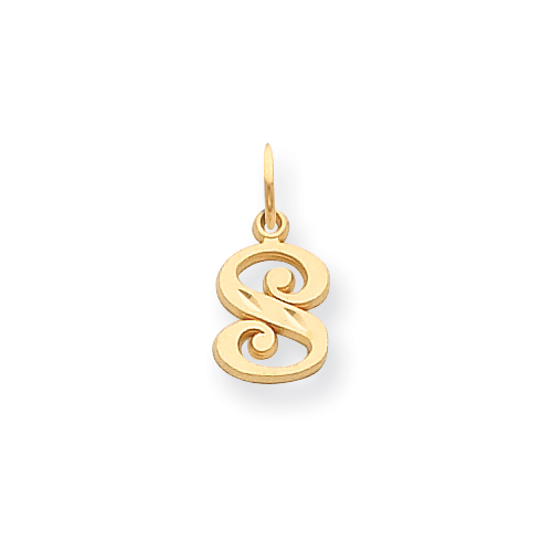 14k Initial S Charm. Price: $57.36