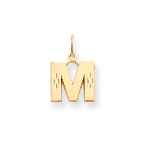 14k Initial M Charm. Price: $133.64