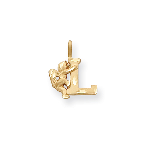 14k Angel Initial L Charm. Price: $85.84