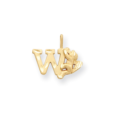 14k Angel Initial W Charm. Price: $116.52
