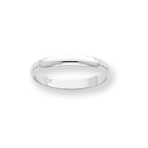 Platinum 3mm Half-Round Wedding Band ring. Price: $405.09