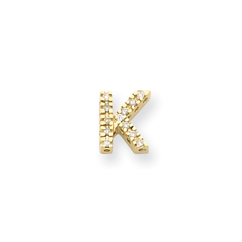 14k Diamond Initial K Charm. Price: $336.70