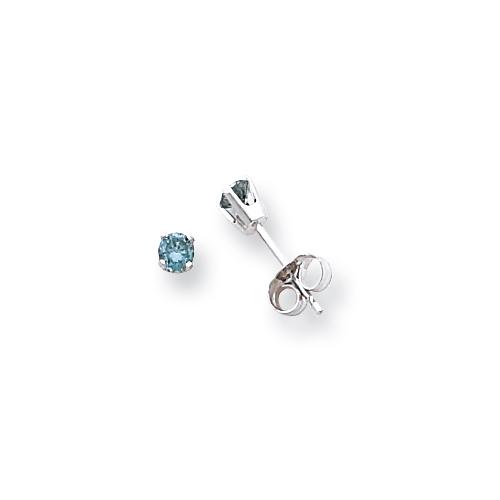 14k White Gold BD Diamond stud earring. Price: $260.98