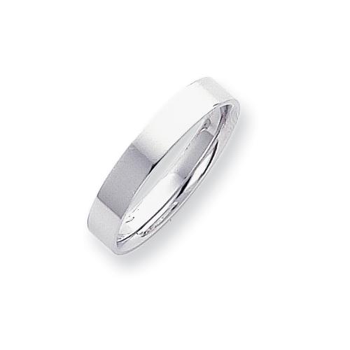 Platinum 4mm Flat Size 5 Wedding Band ring. Price: $706.49