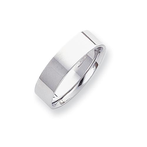Platinum 6mm Flat Size 6 Wedding Band ring. Price: $1304.12
