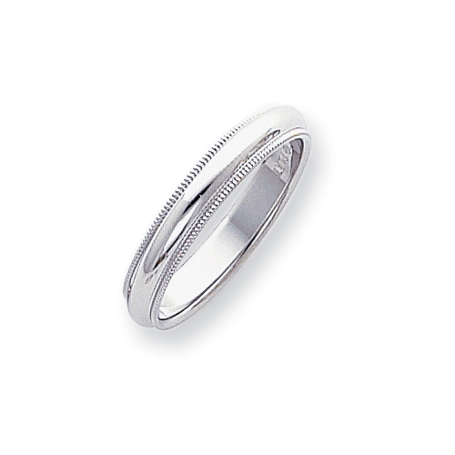 Platinum 4mm Comfort-Fit Milgrain Size 5 Wedding Band ring. Price: $699.38