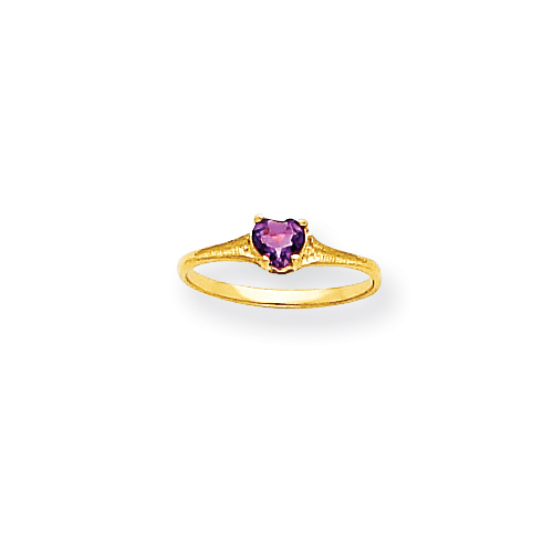 14k 4mm Amethyst Heart Baby Ring. Price: $73.24