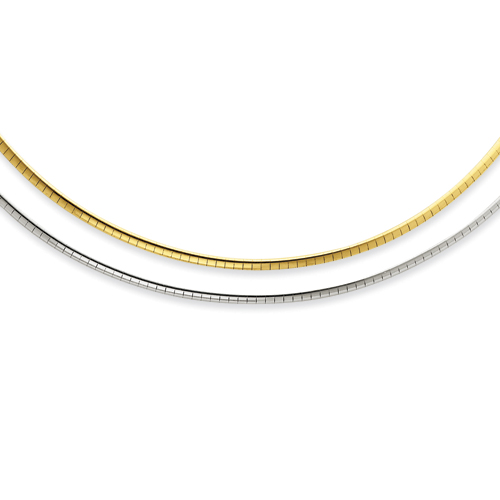 Sterling Silver & 14k 2mm Reversible Adjustable Omega chain. Price: $212.18