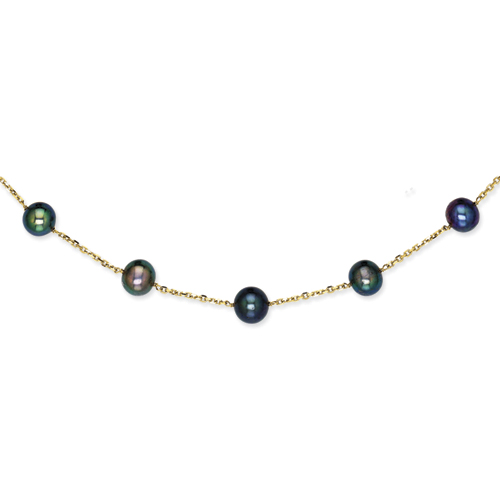 14K Peacock Cultured Pearl Necklace chain. Price: $366.69