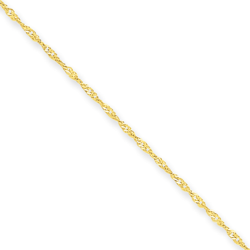 10k 1.10mm Singapore Chain bracelet. Price: $26.00