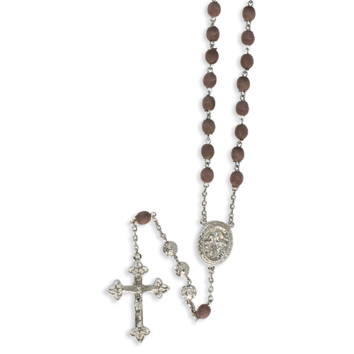 Silver-tone Scented Rose Petal 31in Rosary. Price: $47.28