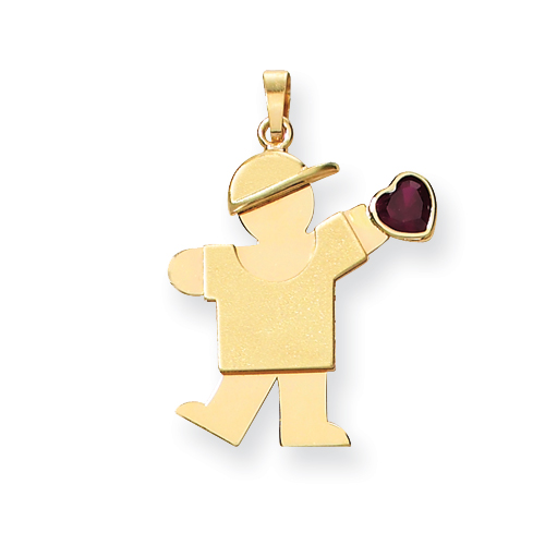 14k Boy with CZ January Birthstone Charm. Price: $234.92