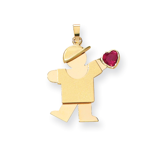 14k Boy with CZ July Birthstone Charm. Price: $233.22