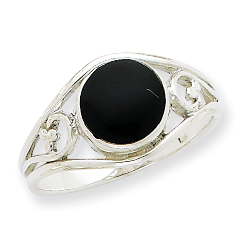 Sterling Silver Antiqued Black Agate Ring. Price: $33.06